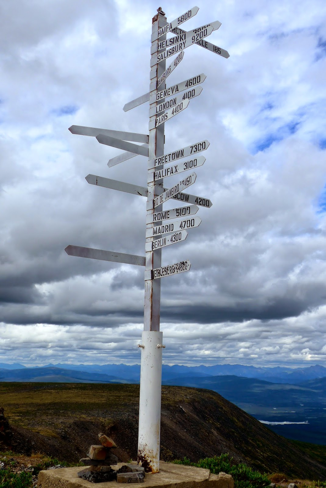 The sign post on Keno Hill.