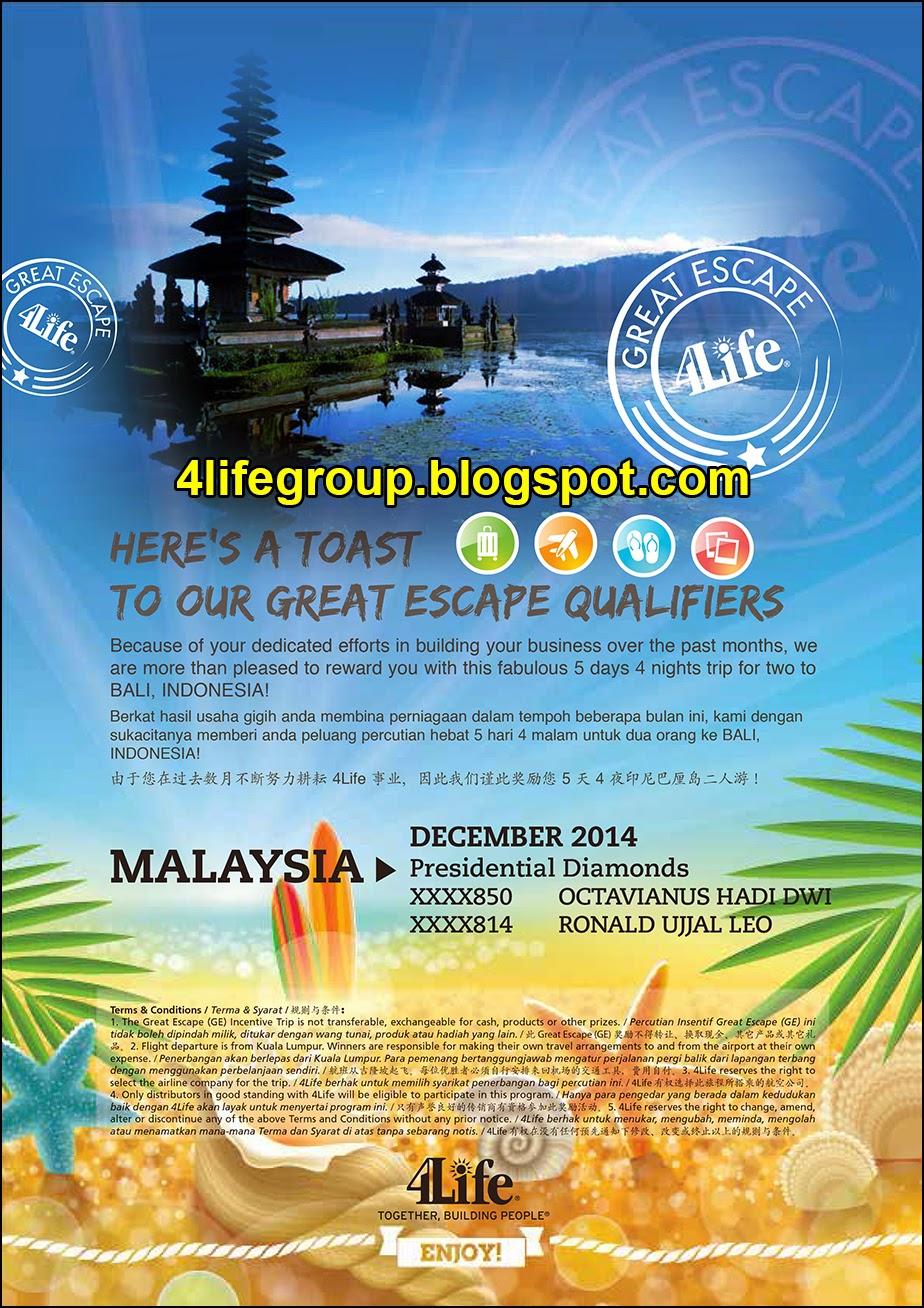 foto December 2014 Great Escape+ Winner