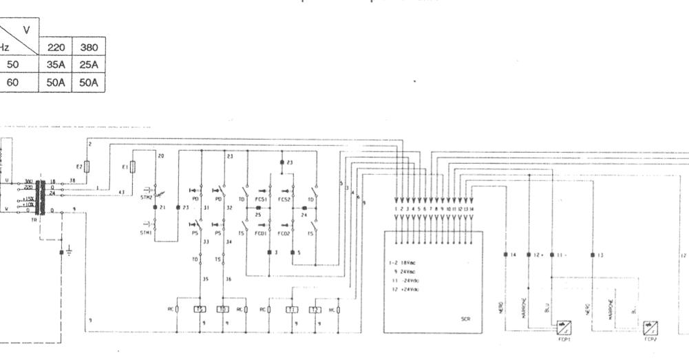 Schema Elettrico Ponte Sollevatore : Schema elettrico ponte ravaglioli kp