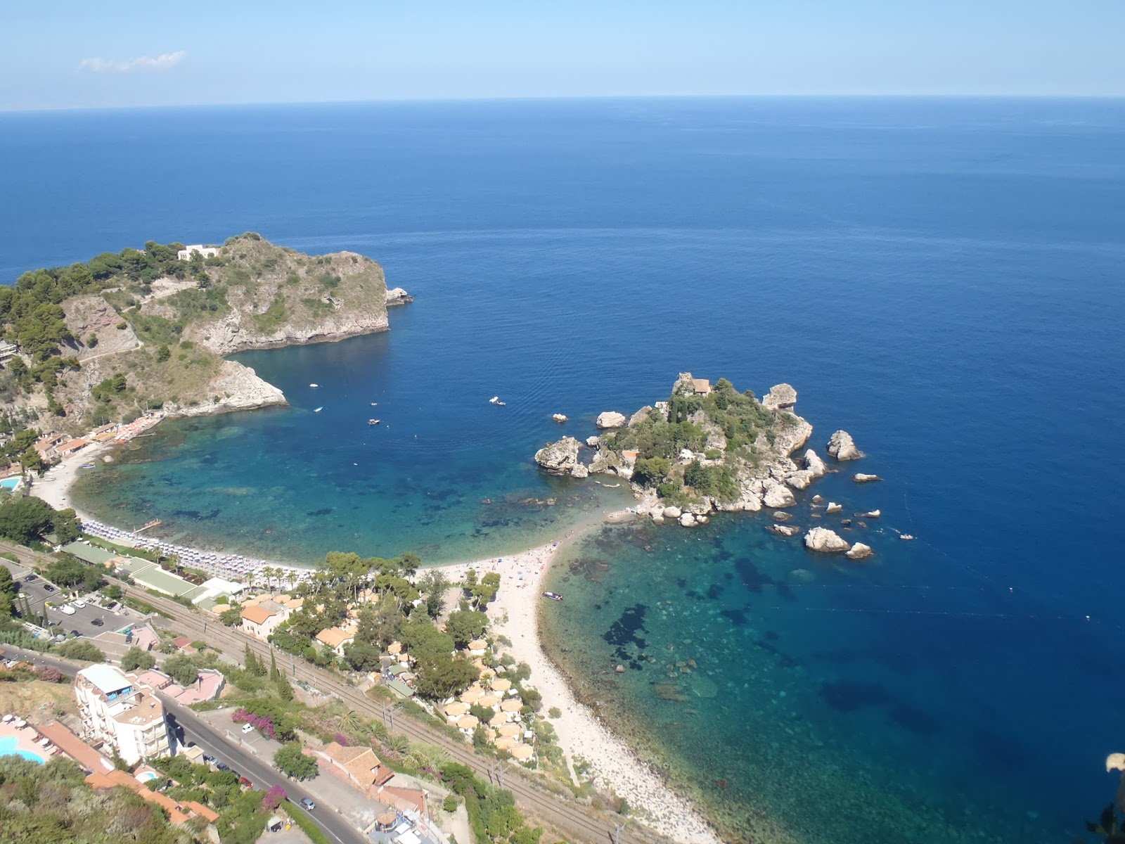 Italy-Sicily Taormina Beach Deep Water Solo in Sicily Natural Place