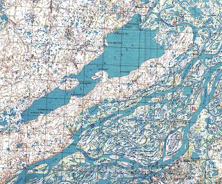 Озеро Голодная Губа на карте округа