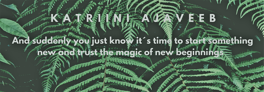 And suddenly you just know it's time to start something new and trust the magic of beginnings