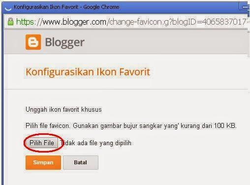 Cara merubah logo  blogger / favicon pada blogger