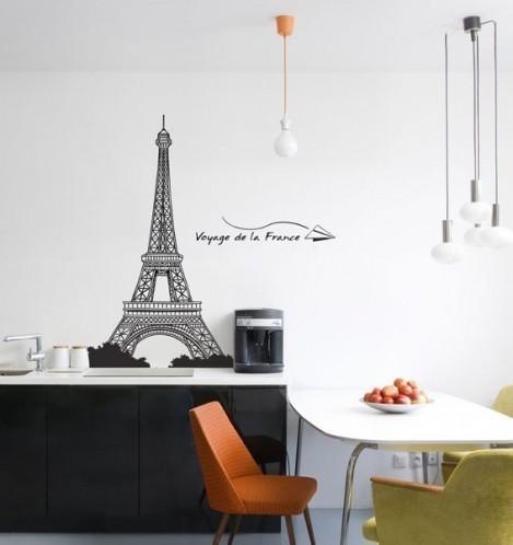 Eiffel tower wall art decor paris room d cor luxury for Paris home decorations