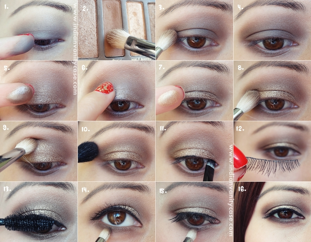 Tutorial for eye makeup