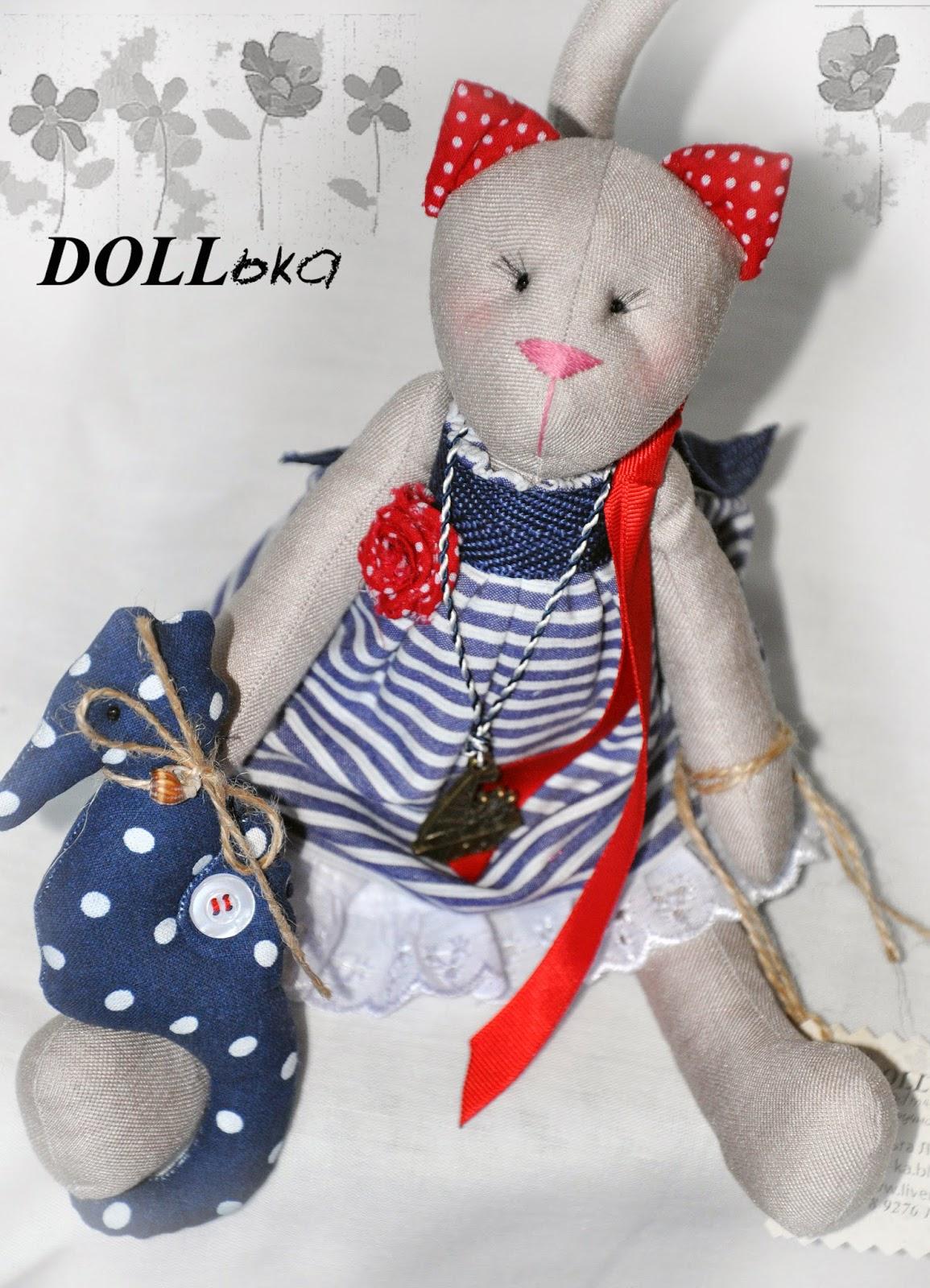 тильда-кошка текстильная игрушка ручной работы