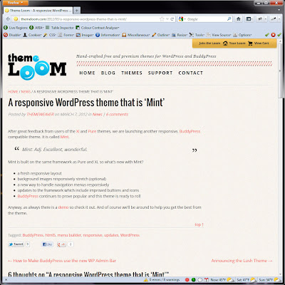 Screen shot of http://themeloom.com/2012/03/a-responsive-wordpress-theme-that-is-mint/.
