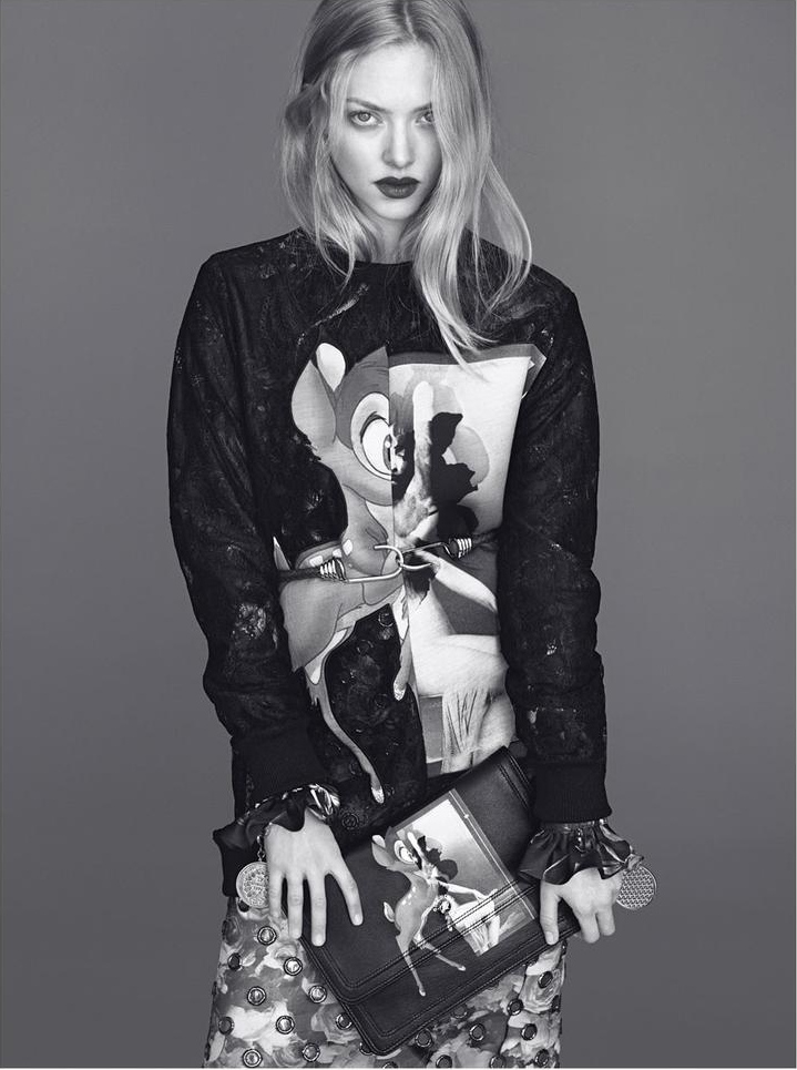 Amanda Seyfried appears all high-end model in Givenchy's Fall 2013 Campaign