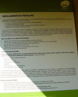 Regolamento forno comunitario  PAV, Torino