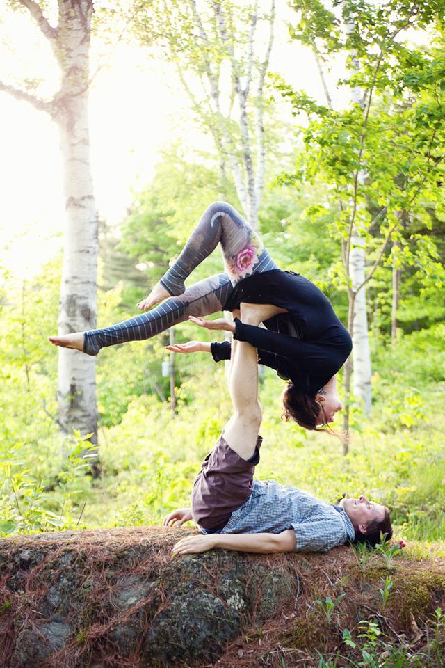 Engagement photography session, Marlboro, VT, Vermont, photographer, lifestyle, acroyoga, yoga documentary