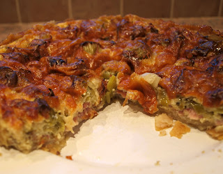 Leek and Bacon flan