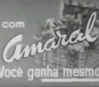 Propaganda das Cestas de Natal Amaral veiculada nos anos 60, época que fazia muito sucesso nos lares brasileiros.