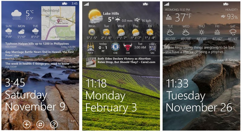 tetra lockscreen customize for windows phone