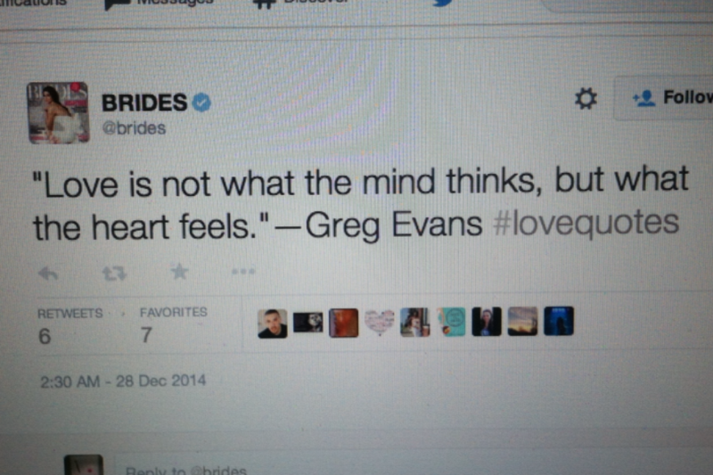 QUOTE BY GREG EVANS