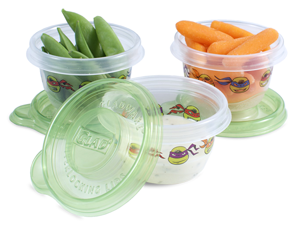Glad TMNT mini containers