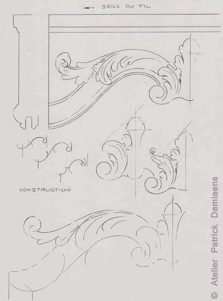 Acanthus Carving and Design http://ornamental-woodcarver-patrickdamiaens.blogspot.com/2012/10/the-acanthus-leaf-acanthus-ornament.html