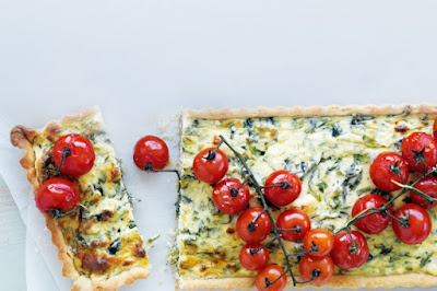 Spanakopita tarts with roasted cherry tomatoes Recipe