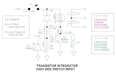 Circuit relais conomique for Transistor fonctionnement