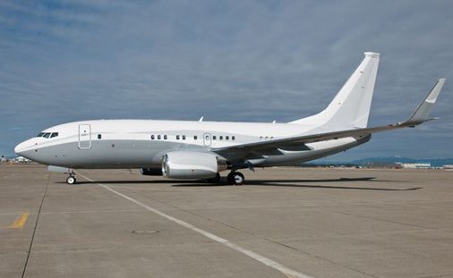 exterior of luxury boeing business jet vip bbj private airplane