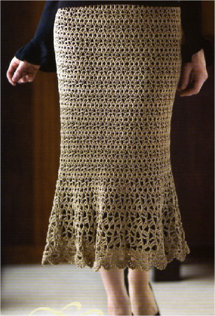 Crochet Patterns Skirt : book skirt flares at bottom this skirt design is in my book crochet ...