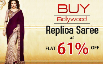Buy Bollywood Replica Saree By Payal Creation at Flat 61 % Off Rs. 2775 only at Shopdrill.