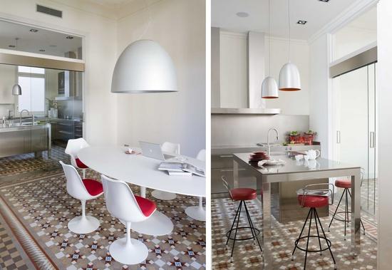 Marta decoycina baldosas hidraulicas aire antiguo para un concepto moderno - Suelos de cocina modernos ...
