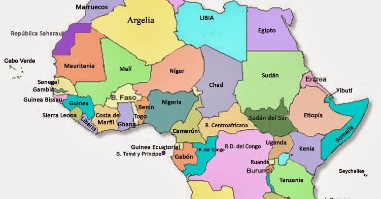 SOCIALES TIETAR Mapa poltico de frica anterior y posterior a 2011