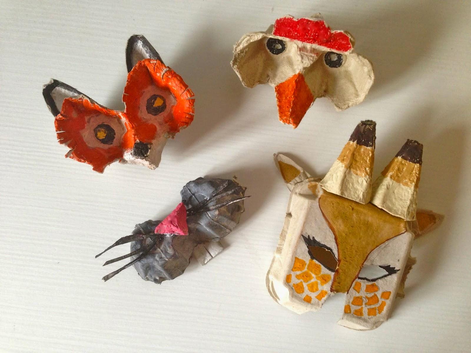 Mangia leggi crea maschere di carnevale con il cartone for Opzioni di materiale di raccordo