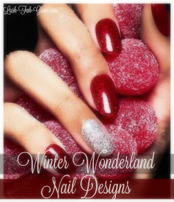Shimmer, dazzle, sparkle, shine and more pretty winter wonderland nail designs.