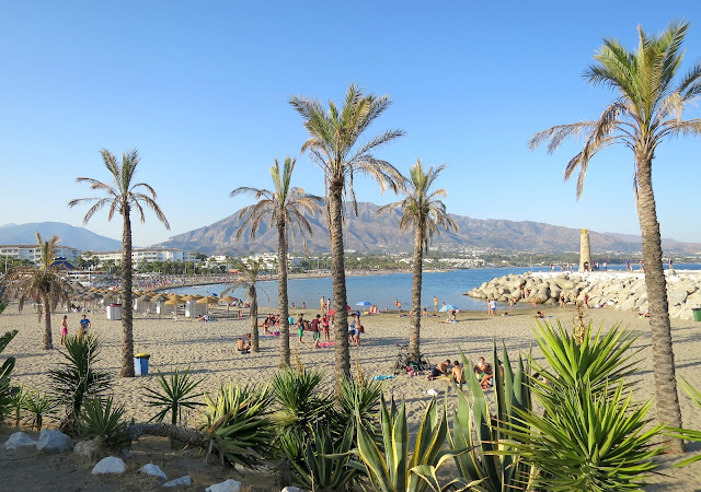 Marbella Spain Summer Holiday Puerto Banus View Mountain Sea Beach