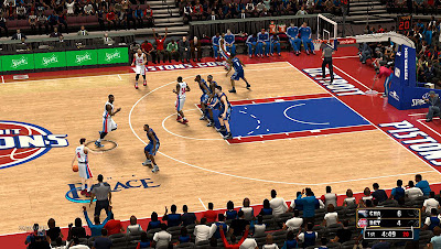 NBA 2K13 The Palace of Auburn Hills Court Update