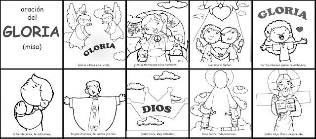 La Catequesis (El blog de Sandra): Colorea y aprende el Gloria que ...
