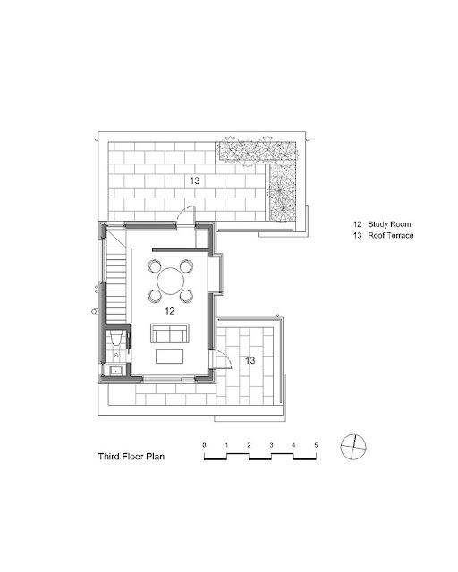 desain denah rumah lantai 3