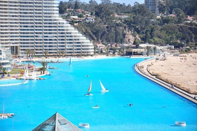 Worlds largest outdoor pool
