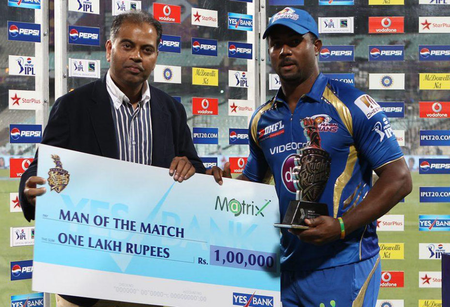 Dwayne-Smith-Man-of-the-Match-KKR-vs-MI-IPL-2013