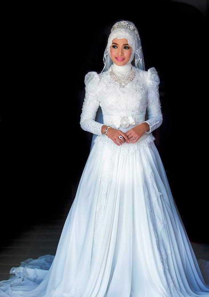 Model Kebaya Pengantin Muslim Warna Putih