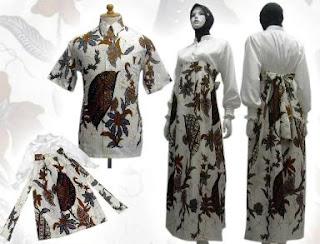 baju+batik+muslim DRESS BATIK MODERN TREND 2013 TERBARU