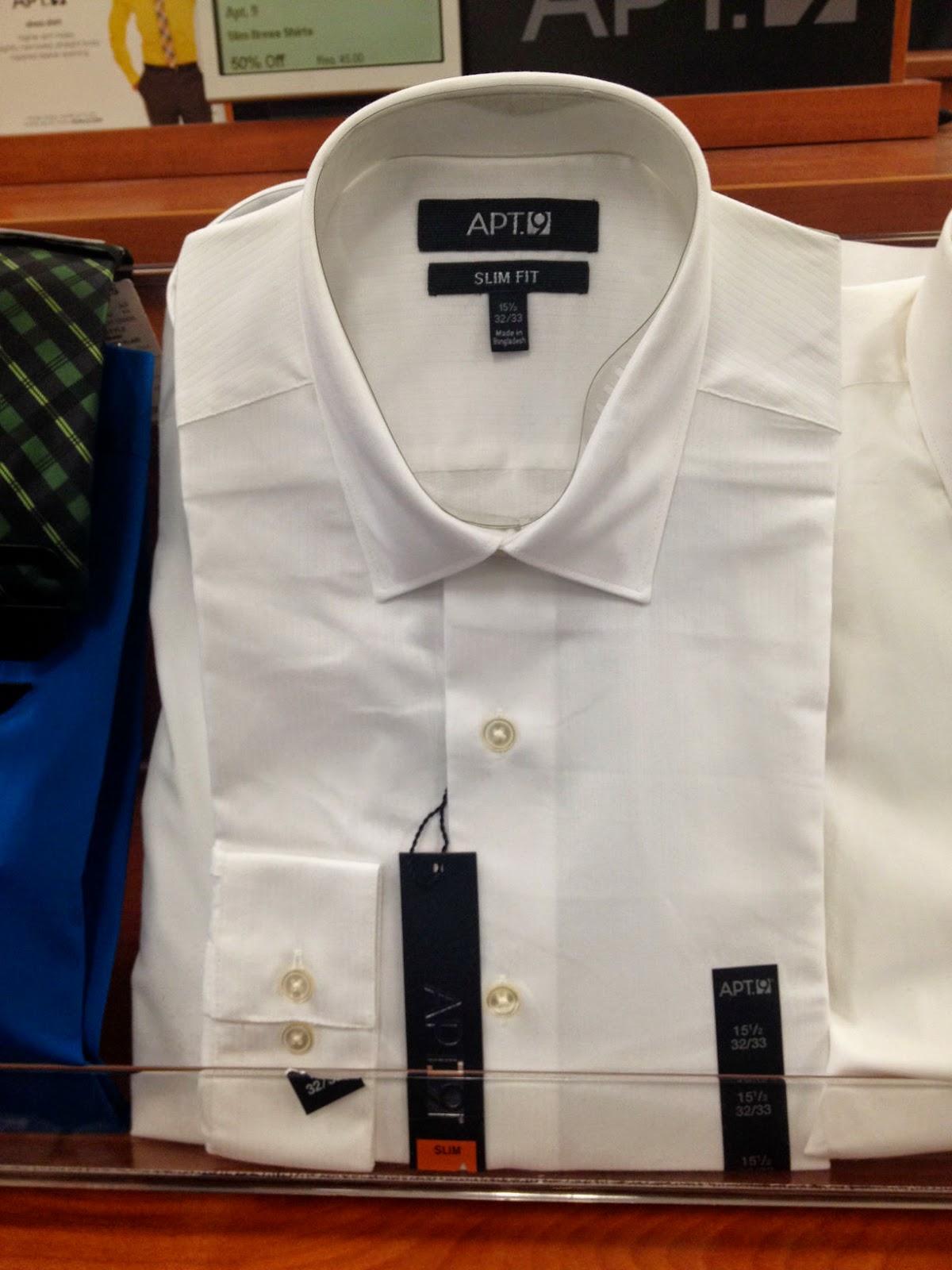 Product of bangladesh apt 9 men 39 s white dress shirt for Apartment 9 dress shirts