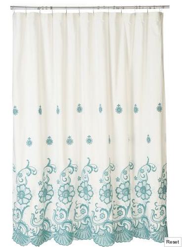 Casa da nane cortina de banheiro azul turquesa for Cortinas azul turquesa