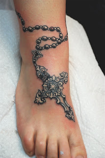 rosary tattoos, tattooing