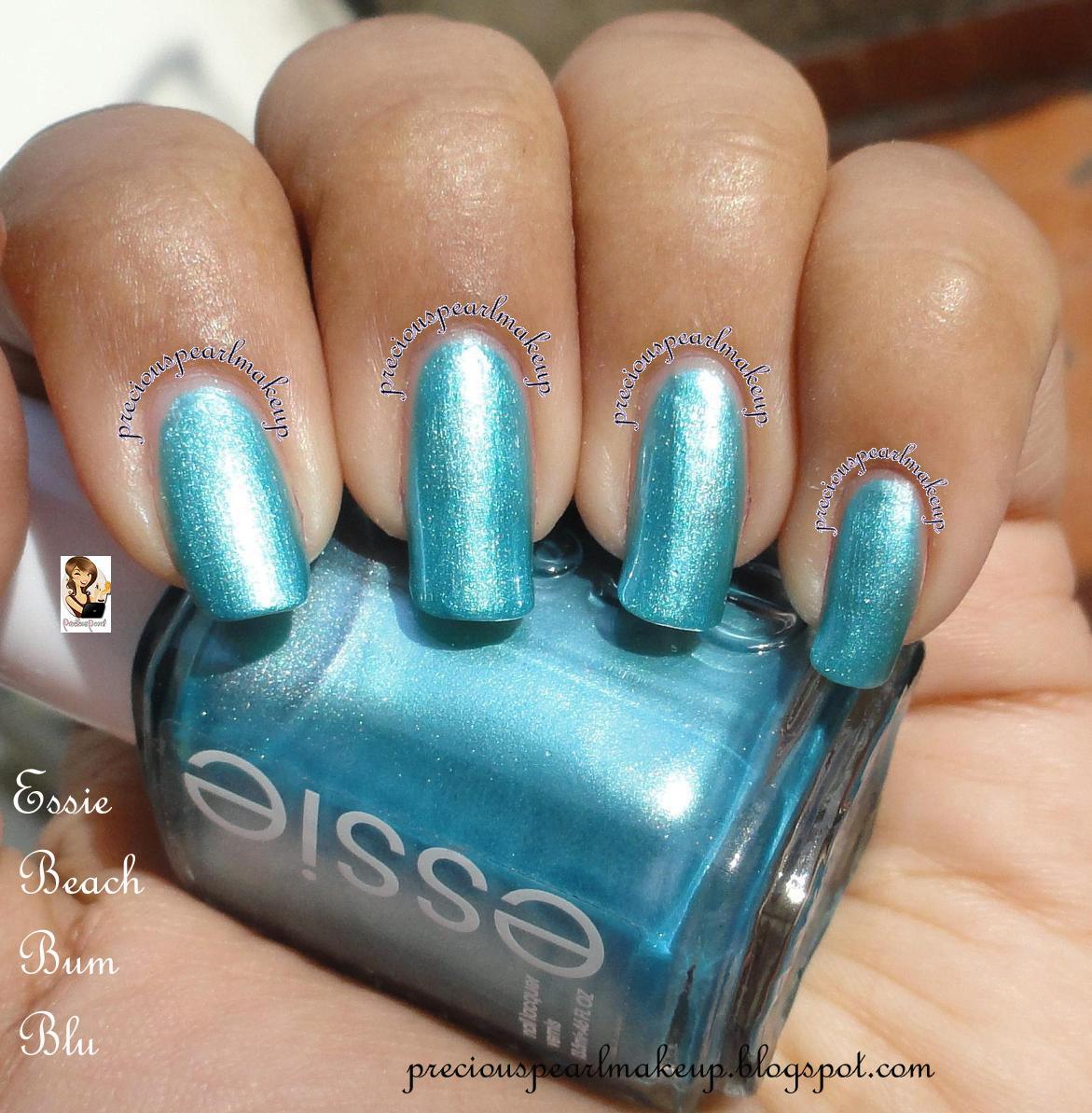 preciouspearlmakeup: Essie Nail Lacquer Beach Bum Blu