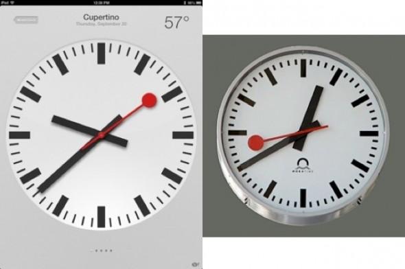 Apple saat uygulaması, İsviçre Devlet Demiryolları saati