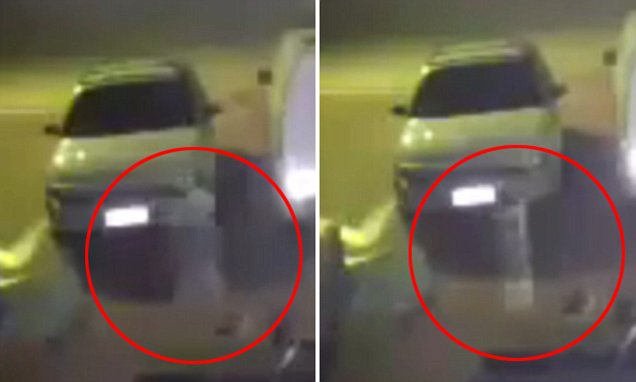 Ghostly Apparition Caught on Video Floating Between Cars in Perth Driveway