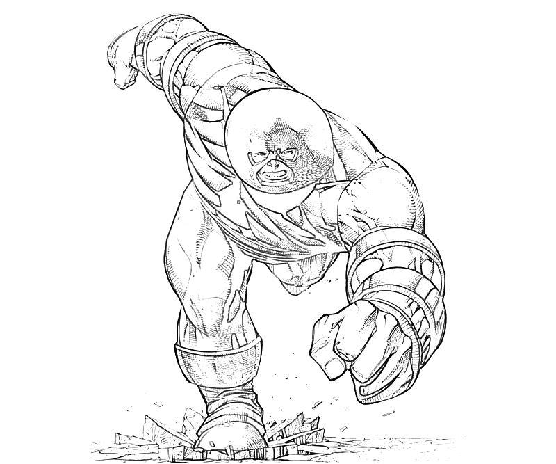 marvel juggernaut coloring pages - photo#4