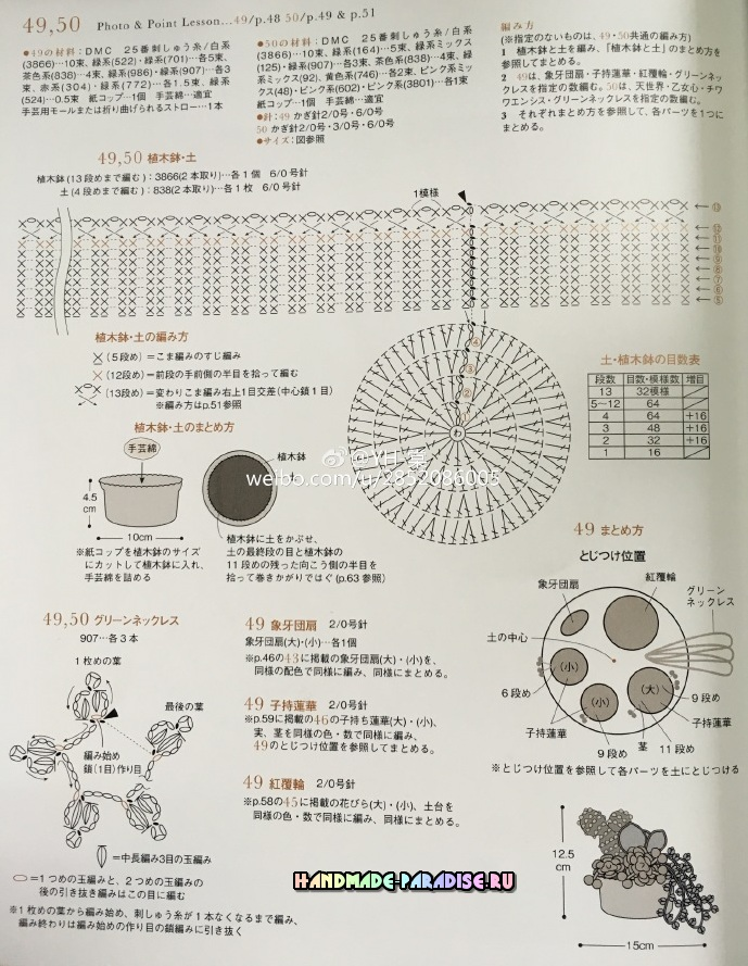 Схема вязания кактуса 37
