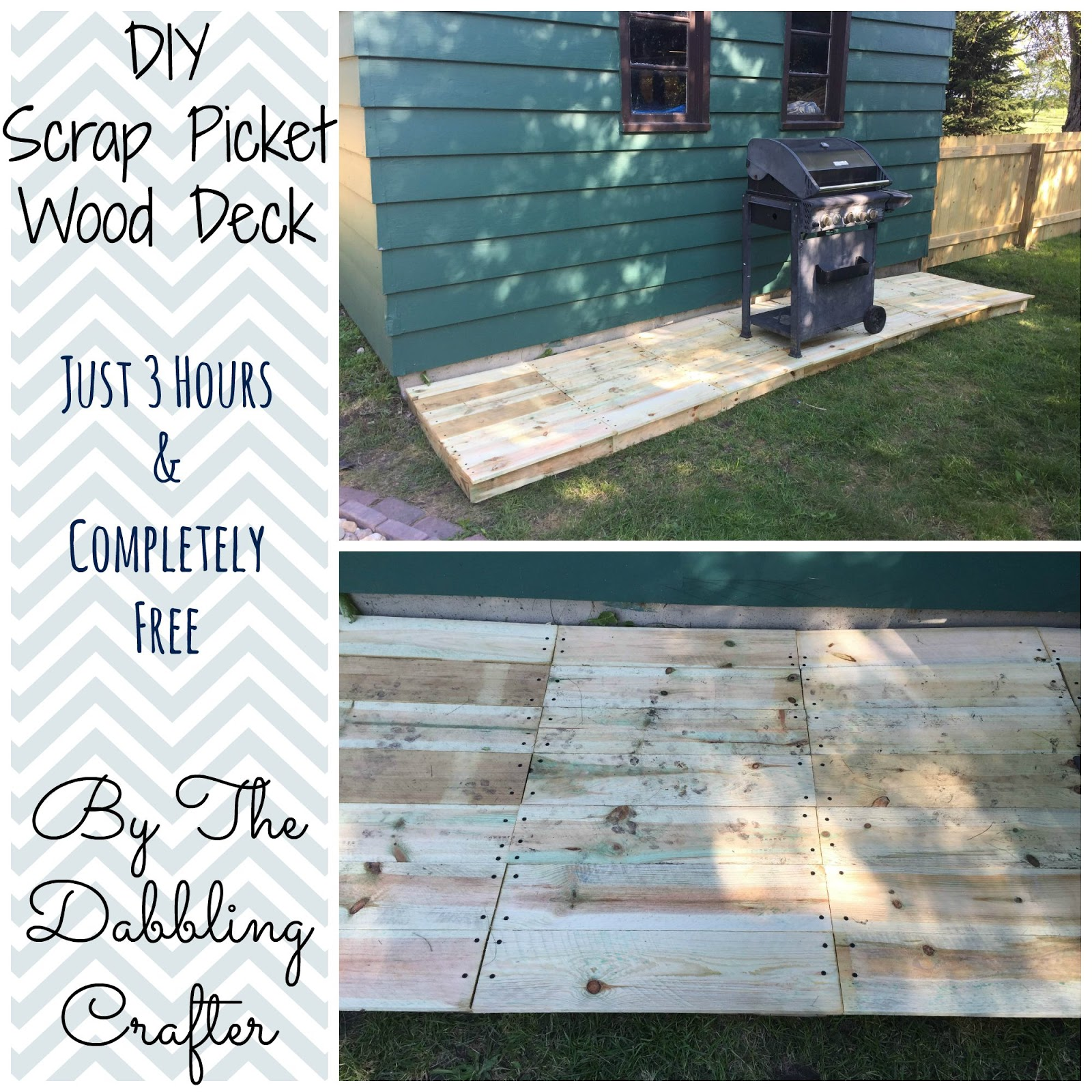 The Dabbling Crafter Diy Sunday Scrap Wood Deck