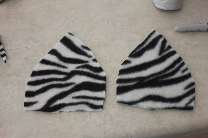how to make zebra ears and tail