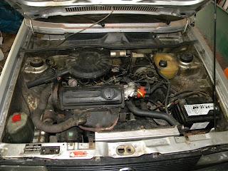 Mycie silnika - brudny silnik