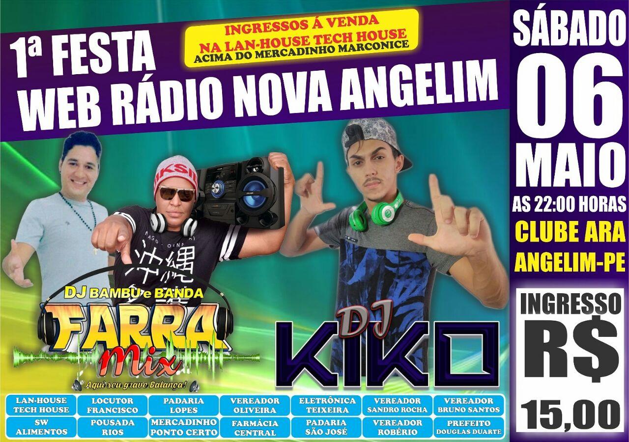 1ªFesta web rádio nova Angelim/PE