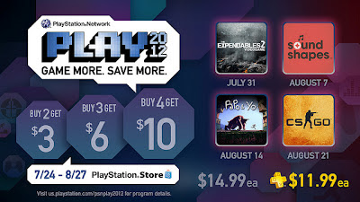PSN Play 2012 Sale